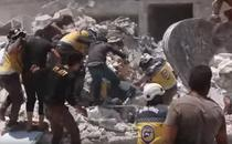 Cladire distrusa de atacuri aeriene in Siria