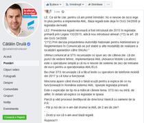 Catalin Drula pe Facebook