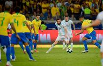 Lionel Messi, in meciul cu Brazilia