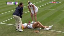 Margarita Gasparyan, accidentare la Wimbledon