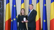 Klaus Iohannis si Simona Halep, la Cotroceni