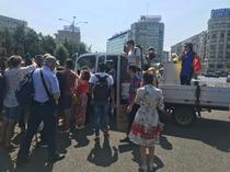 cearta in Piata Victoriei