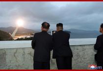 Kim Jong Un la lansarea de rachete de pe 10 august
