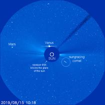 cometa prabusita in soare (sursa foto- space.com)