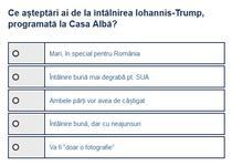 Sondaj Iohannis Trump