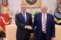 Klaus Iohannis si Donald Trump, la Casa Alba