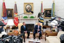 Iohannis si Trump in Biroul Oval