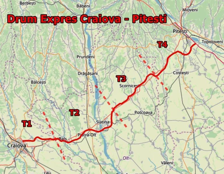 Hartă Interactivă Drumul Expres Craiova Pitești Interes Mare
