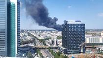 Incendiu puternic in nordul Capitalei