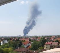 Incendiu in nordul Capitalei