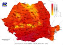 Temperaturile maxime pe 8 august
