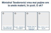 Sondaj Teodorovici - ore de predare