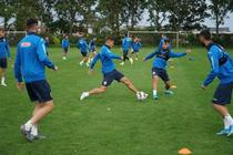 Jucatorii nationalei U21 la antrenament