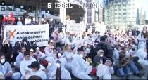 protest la Salonul Auto de la Frankfurt