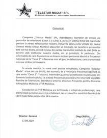 Comunicatul Telestar Moldova