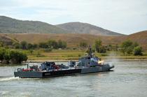 Exercitiu militar pe Dunare