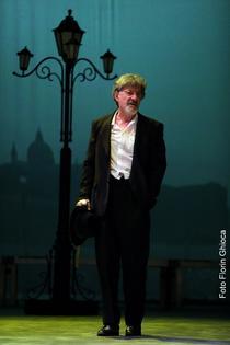 Ion Caramitru in Neguțătorul din Veneția: foto Florin Ghioca