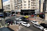 Aglomeratie in trafic pe Calea Victoriei