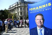 Panou electoral Iohannis