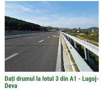 Petitie pentru deschiderea lotului 3 din autostrada Lugoj - Deva
