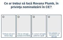 Sondaj nominalizare Rovana Plumb
