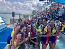Echipajul feminin de opt plus carmaci al Romaniei, la CE Canotaj U23