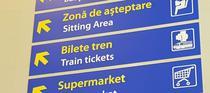 Indicator pentru bilete de tren in aeroport