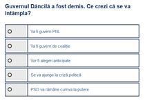Sondaj guvern post-Dancila