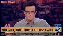 Mihai Gadea in direct cu telespectatorii