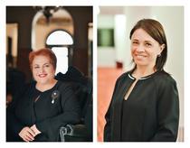 Virginia Oțel (Președinte) și Ioana Rentea (VP Entrepreneurship)