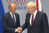 Donald Tusk si Boris Johnson