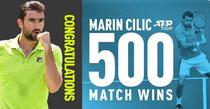 Marin Cilic, victoria 500 a carierei