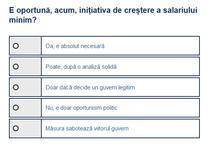 Sondaj cresterea salariului minim
