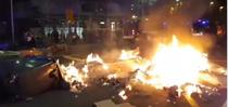 proteste violente la Barcelona
