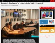 Articolul Realitatea.net despre CNA