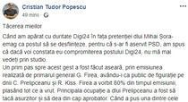 CTP despre interviul Prelipceanu-Firea