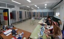 Sectie de vot din Spania