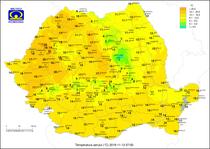 Temperaturile pe 13 noiembrie la ora 7