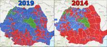 Rezultate Prezidentiale 2019 vs 2014