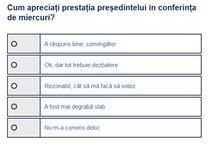 Sondaj conferinta Iohannis