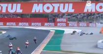 Accident la MP al Valenciei, clasa Moto3