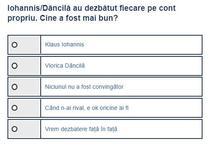 Sondaj Dancila - Iohannis