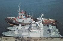 Navele capturate de rusi in stramtoarea Kerci