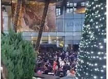 oameni evacuati de la Sun Plaza