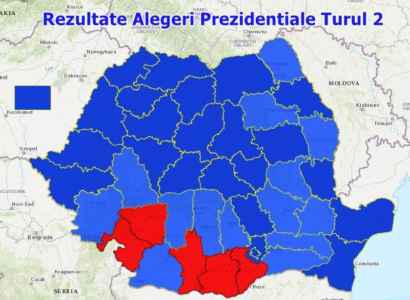 Hartă Interactivă Rezultatele Alegerilor Prezidențiale In Fiecare