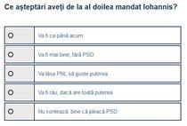 Sondaj - Al 2-lea mandat Iohannis