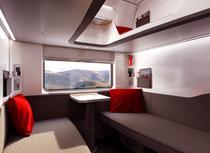 Intr-un nou vagon de dormit austriac