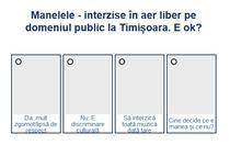 Sondaj manele Timișoara