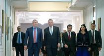 Klaus Iohannis, la preluarea mandatului la Ministerul Justitiei
