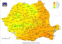 Temperaturile la ora 14 pe 6 noiembrie